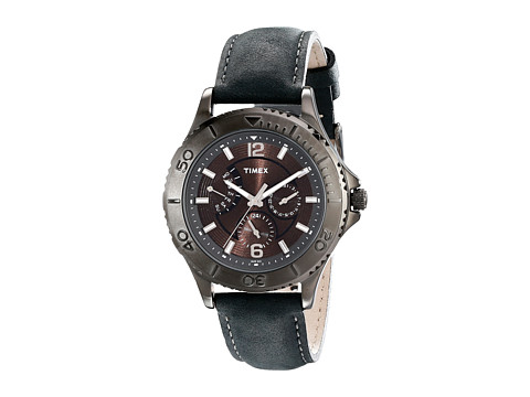 Timex Ameritus Retrograde Watch (Black/Gray) Watches