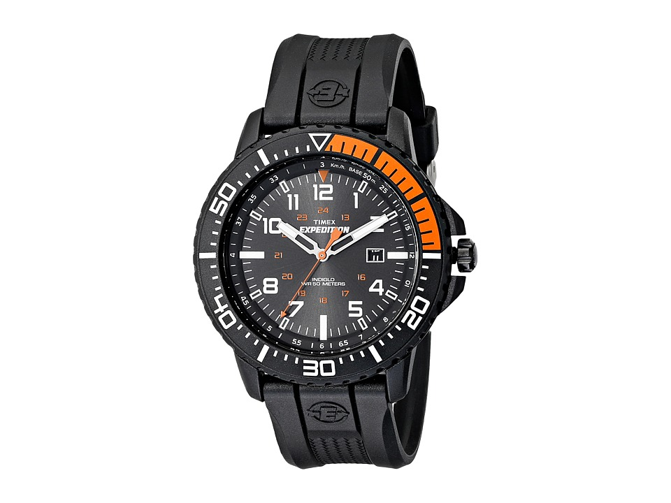 Timex - Expedition Uplander Watch (Black/Orange/White) Watches