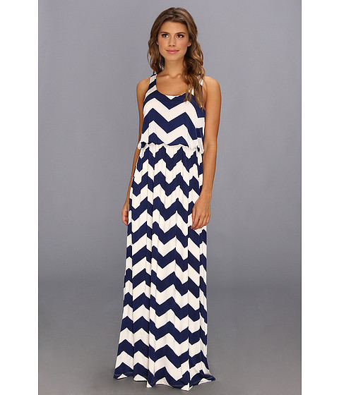 Brigitte Bailey - Moroccan Maxi Dress (Navy/Ivory) Women