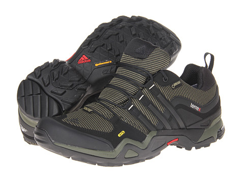 adidas Outdoor - Terrex Fast X GTX (Earth Green/Black/University Red) Men's Shoes