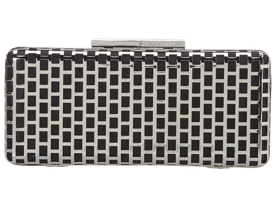 BCBGMAXAZRIA - Minna Cage Clutch (Sliver) Clutch Handbags