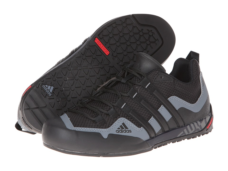 adidas Outdoor - Terrex Swift Solo (Black/Black/Carbon) Men's Shoes