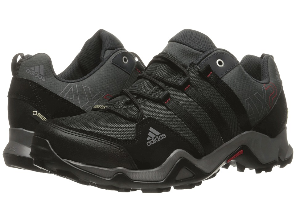 adidas Outdoor - adidas Outdoor - AX 2 GTX (Dark Shale/Black/Light Scarlet) Men's Shoes