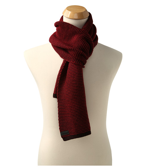 Calvin Klein - Two-Tone Seed Stitch Muffler (Black Cherry) Scarves