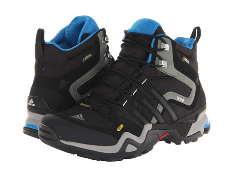 adidas Outdoor - Terrex Fast X Mid GTX W (Carbon/Black/Dark Solar Blue) Women's Hiking Boots