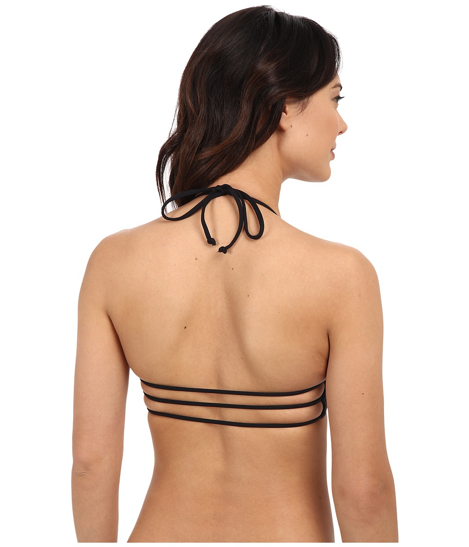 L*Space - Strap Back Top (Black) Women's Swimwear