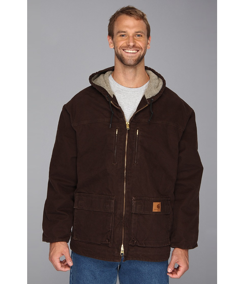 Carhartt - Sandstone Jackson Coat (3XL/4XL) (Dark Brown) Men's Coat