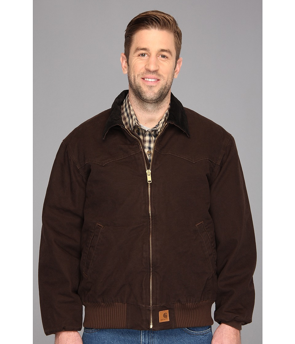Carhartt - Sandstone Santa Fe Jacket (3XL/4XL) (Dark Brown) Men's Coat
