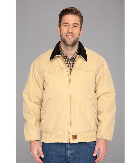 Carhartt - Sandstone Santa Fe Jacket (3XL/4XL) (Worn Brown) Men's Coat