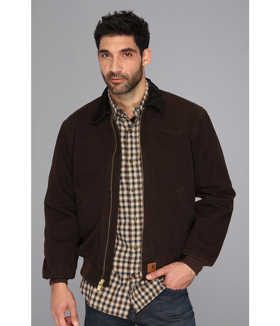 Carhartt - Sandstone Santa Fe Jacket - Tall (Dark Brown) Men's Coat