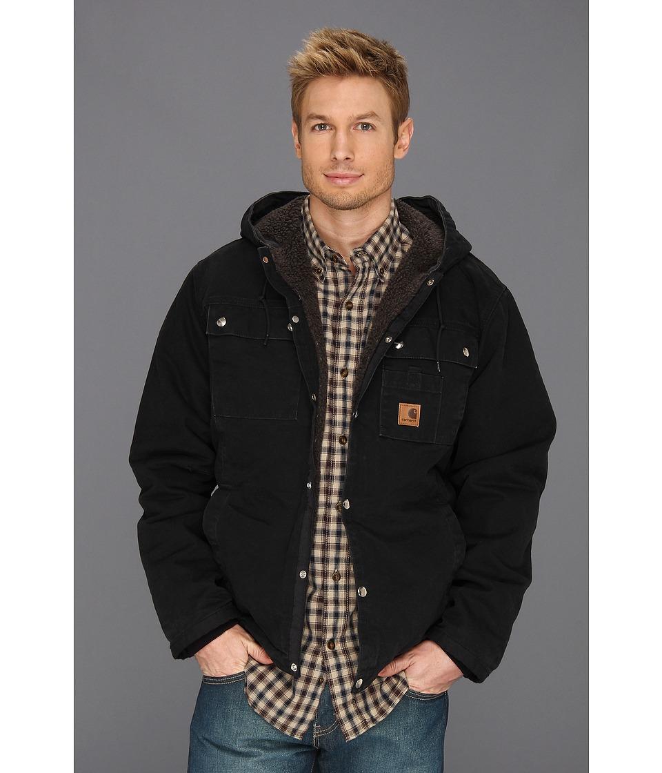 Carhartt - Big Tall Sandstone Hooded Multi Pocket Jacket (Black) Men's Coat
