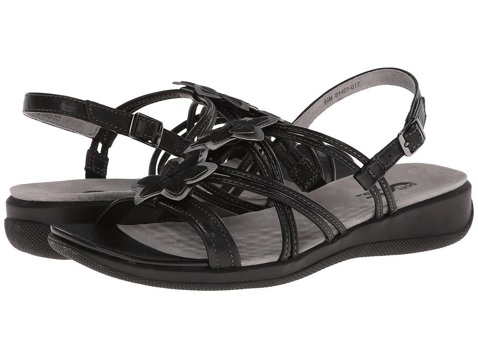 SoftWalk - Tobago (Black/Pewter) Women's Shoes