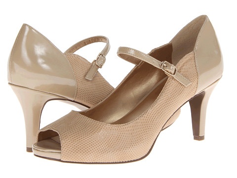 Trotters - Olive (Nude Mini Dot Patent Suede) High Heels