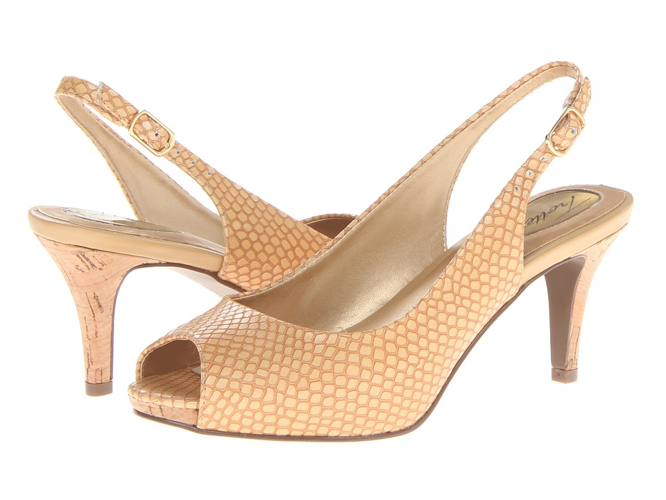 Trotters - Omega (Nude Snake Embossed Leather) Women's Sling Back Shoes