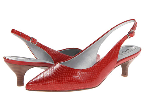Trotters - Prima (Red Snake Embossed Leather) Women's 1-2 inch heel Shoes