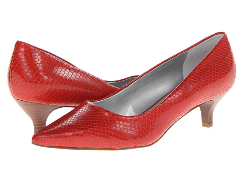 Trotters - Paulina (Red Snake Embossed Leather) Women's 1-2 inch heel Shoes