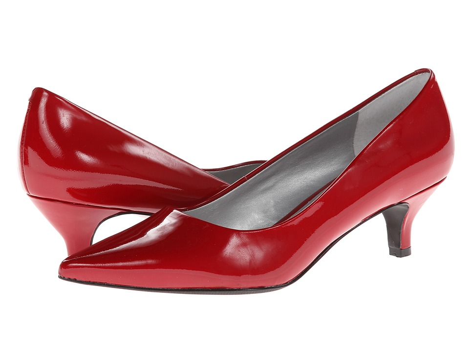 Trotters - Paulina (Red Patent Leather) Women's 1-2 inch heel Shoes