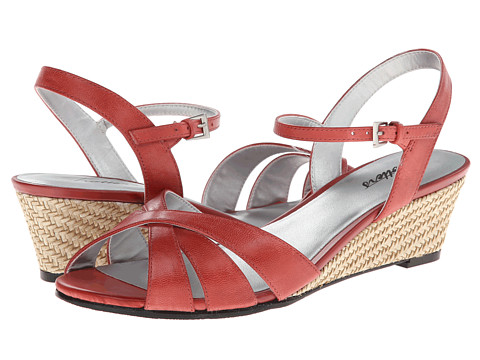Trotters - Mickey (Red Soft Dull Leather) Women