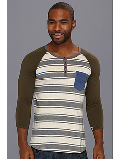 SALE! $14.99 - Save $21 on UNIONBAY 3 4 Sleeve Shelton Raw Jersey Raglan Crew (Ecru) Apparel - 58.36% OFF $36.00