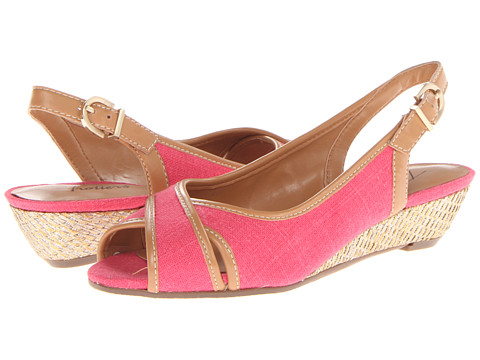 Trotters - Calle (Fuchsia Linen/Smooth) Women's Sling Back Shoes