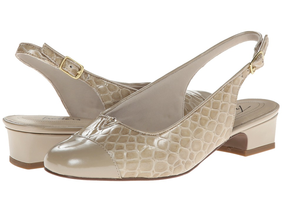 Trotters - Dea (Taupe Patent Croco Leather) Women's 1-2 inch heel Shoes