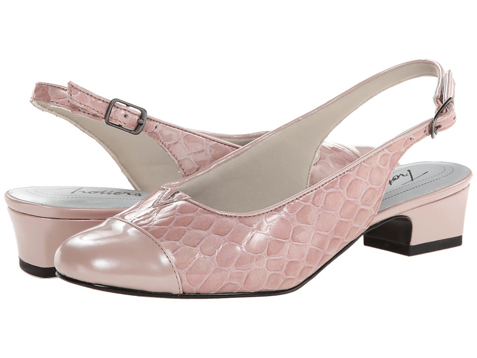 Trotters - Dea (Light Pink Patent Croco Leather) Women's 1-2 inch heel Shoes
