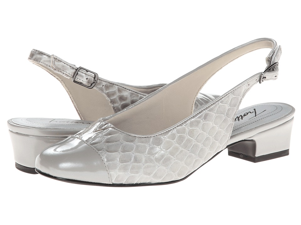 Trotters - Dea (Light Grey Patent Croco) Women's 1-2 inch heel Shoes
