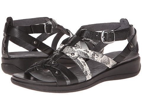 SoftWalk - Torino (Black/Snake) Women's Sandals