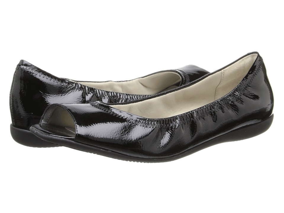Trotters - Morgan (Black Crinkle Patent Leather) Women