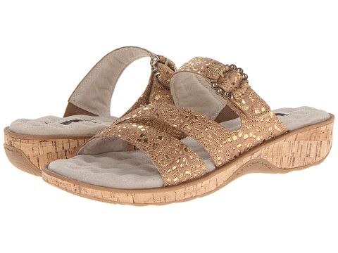 SoftWalk - Bal Harbour (Brown/Gold) Women's Shoes