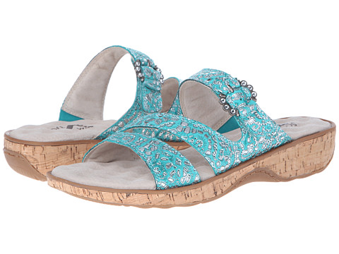 SoftWalk - Bal Harbour (Green/Silver) Women