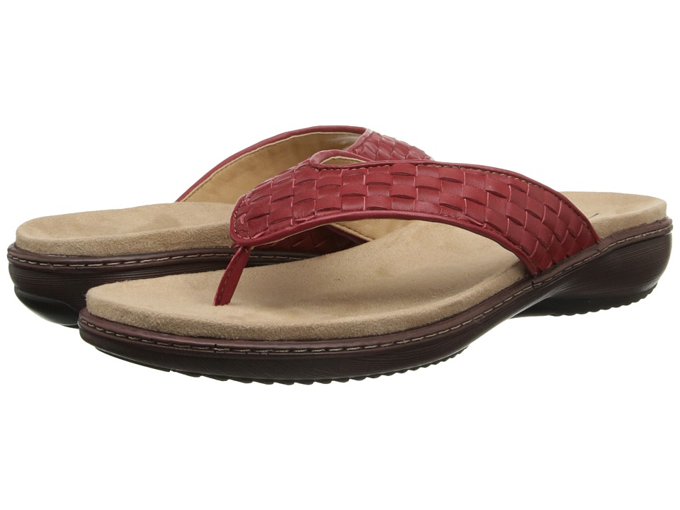 Trotters - Kristina (Red Woven Soft Nappa Leather) Women's Sandals