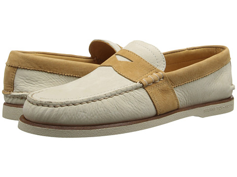 Sperry Top-Sider - Gold A/O Penny (Ivory/Tan) Men's Slip on Shoes