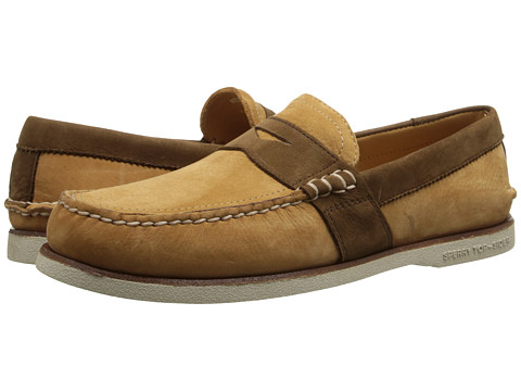 Sperry Top-Sider - Gold A/O Penny (Tan/Dark Brown) Men's Slip on Shoes