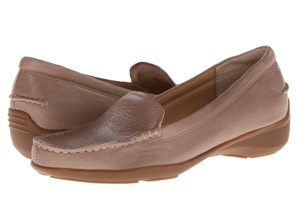 Trotters - Zane (Stone Veg Tumbled Leather) Women's Shoes