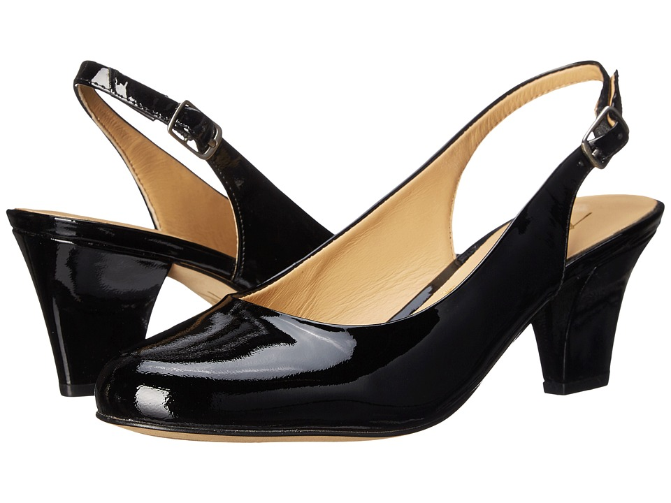 Trotters - Pella (Black Patent Leather) Women's Shoes