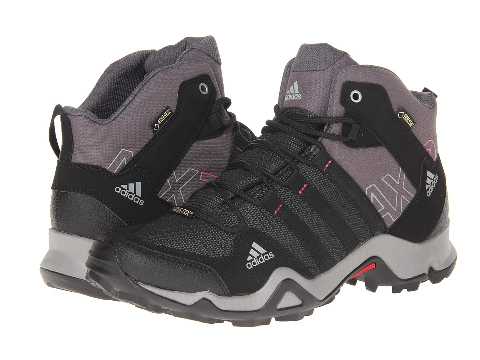 adidas Outdoor - AX 2 Mid GTX W (Carbon/Black/Bahia Pink) Women's Hiking Boots