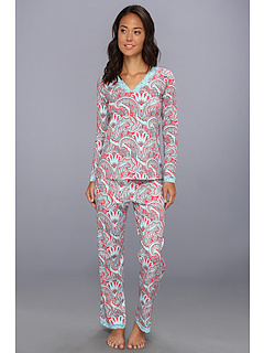 SALE! $54.99 - Save $77 on BedHead Printed Lace Lounge Set (Red Picadilly Paisley) Apparel - 58.34% OFF $132.00