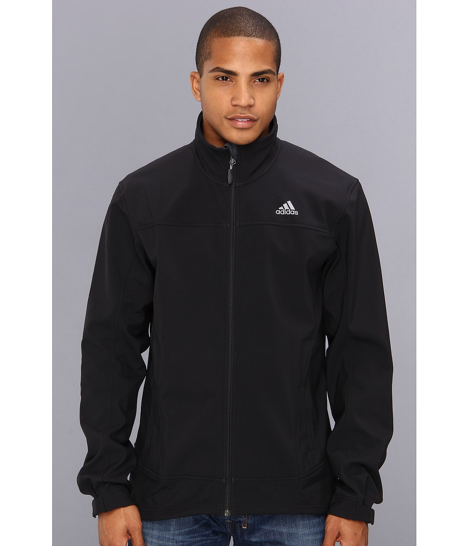 adidas Outdoor - Hiking Softshell Jacket (Black) Men's Coat