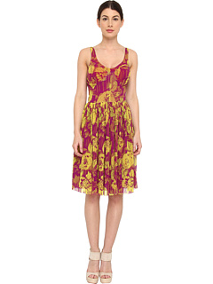 SALE! $349.99 - Save $285 on Jean Paul Gaultier Flower Tulle Sleeveless Short Bustier Dress (Camomilla) Apparel - 44.88% OFF $635.00