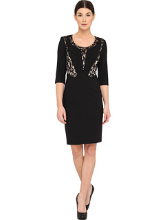 SALE! $199.99 - Save $228 on Rachel Roy Lace Inset Dress (Black) Apparel - 53.27% OFF $428.00