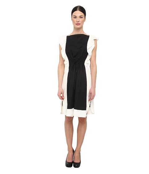 See by Chloe - LVA4601T7665 (Black Cream) Women's Dress
