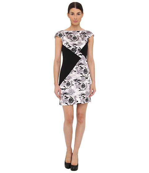 Versace Collection Triangle Colorblock Mini Dress (Perla/Stampa) Women's Dress