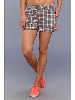 SALE! $24.99 - Save $25 on adidas Outdoor EDO Check Shorts (Vista Green Bahia Coral) Apparel - 50.02% OFF $50.00
