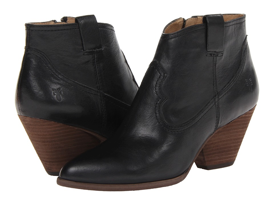 Frye - Reina Bootie (Black) Cowboy Boots