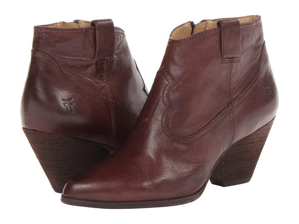 Frye - Reina Bootie (Brown) Cowboy Boots