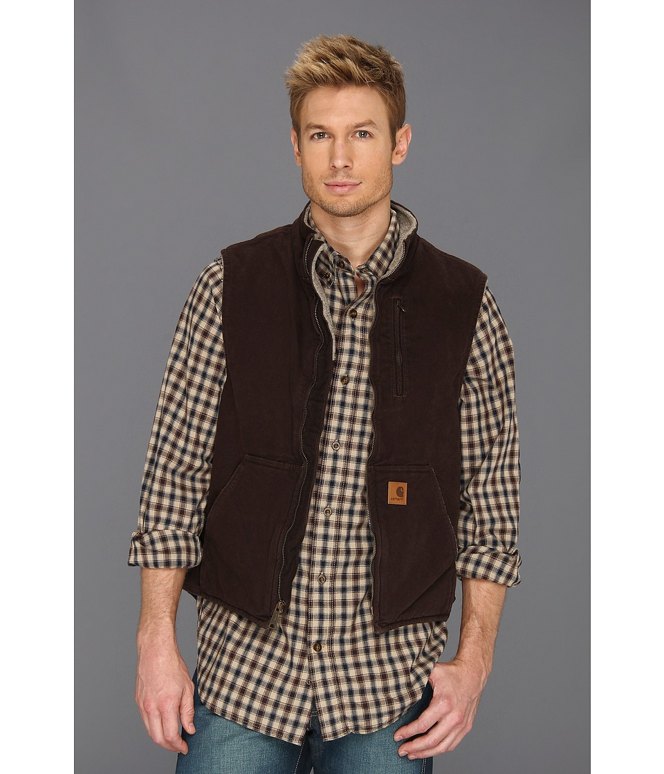 Carhartt - Sandstone Mock Neck Vest (Dark Brown) Men's Vest