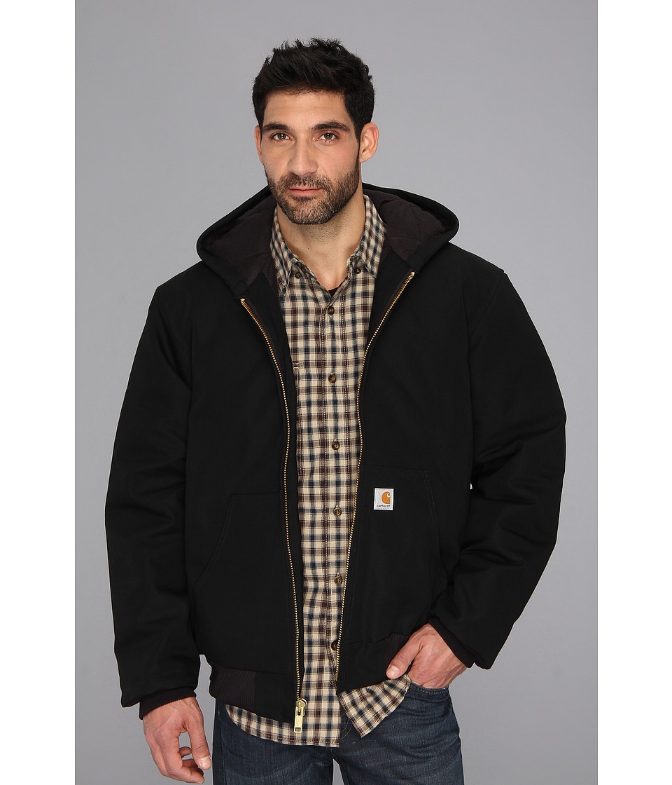 Carhartt - Big Tall QFL Duck Active Jacket (Black) Men's Coat
