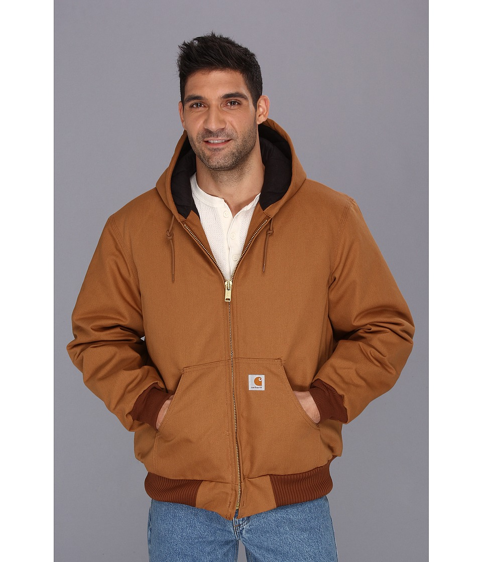 Carhartt - Big Tall QFL Duck Active Jacket (Carhartt Brown) Men's Coat