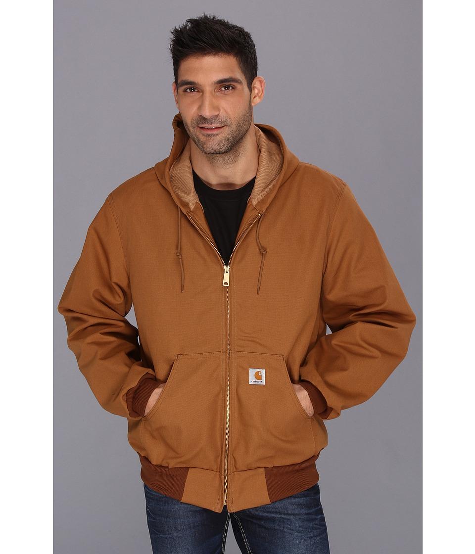 Carhartt - Big Tall Thermal Lined Duck Active Jacket (Carhartt Brown) Men's Coat